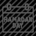 calendar, date, day, islam, mubarak, ramadan icon