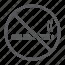 cigarette, circle, forbidden, no, prohibited, smoking icon