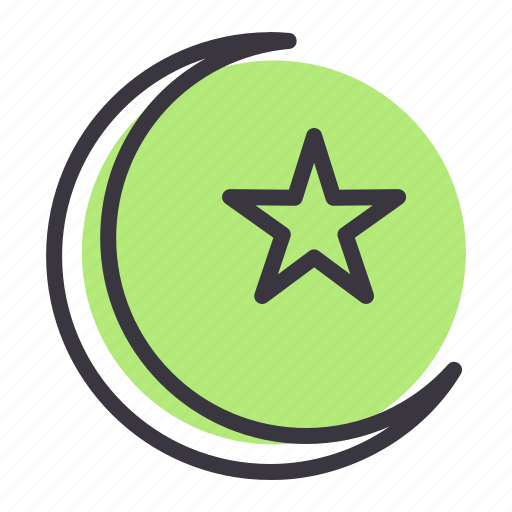 Crescent, islam, moon, star icon - Download on Iconfinder