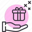 birthday, celebration, christmas, gift, present, ramadan, receive icon