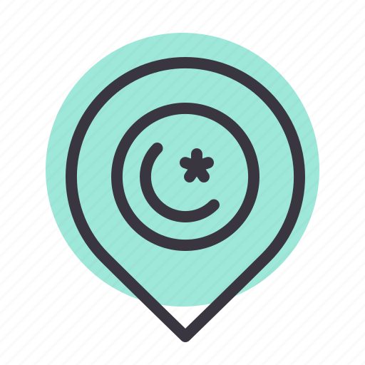 Location, mosque, pin, ramadan icon - Download on Iconfinder