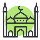 building, islam, mosque, muslim, place, prayer, religion icon