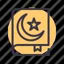 book, prayer, quran, religion icon