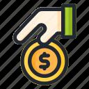 charity, coin, dollar, donation, money, zakat icon