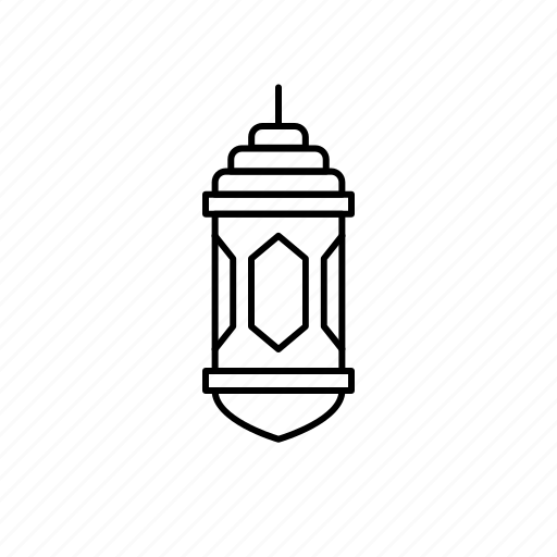 islamic, lamp, lantern, traditional icon