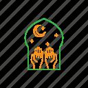 eid, fitr, forgive, hand, islam, mosque, muslim icon