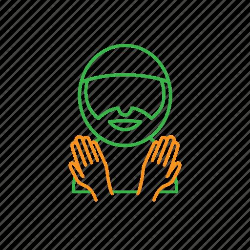 hand, man, muslim, praying icon