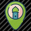 location, mosque, praying, call