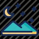 landscape, moon, night, ramadan, star
