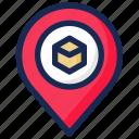 kaaba, location, pin, position, qibla icon