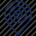 kaaba, location, pin, position, qibla