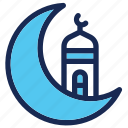 islam, moon, moslem, mosque, ramadan