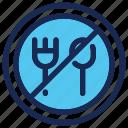 eat, fork, islam, no, ramadan, spoon icon