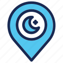 location, moslem, mosque, pin, pray