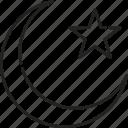 islam, moon, muslim, ramadan, religion, star, symbol icon