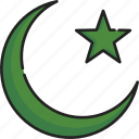islam, moon, muslim, ramadan, religion, star, symbol