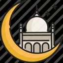 islam, moon, mosque, muslim, ramadan, religion, star icon