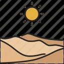 desert, dry, dune, hot, sahara, sand, sunset