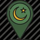 location, muslim, pin, point, prayer, ramadan, sign