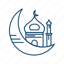 islam, moon, mosque, muslim, ramadan icon