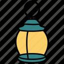 camping, lamp, lantern, light, ramadan icon