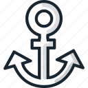 anchor, boat, sea, ship