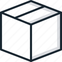 box, closed, delivery, goods icon