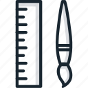 brush, design, drawing, rule, tools icon