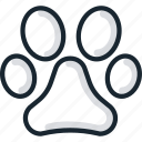 animal, dog, foot, lion, paw, pet, pets icon