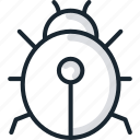 animal, beetle, bug, insect, virus icon