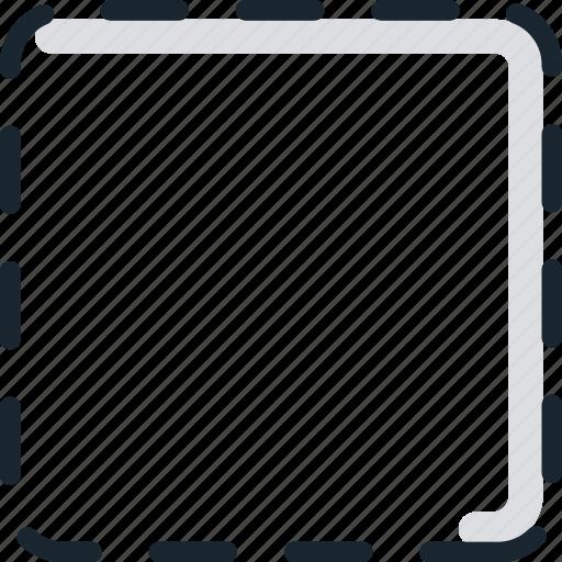 box, check, checkbox, form, inactive, input icon