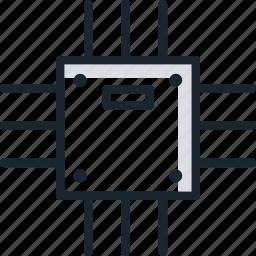 chip, hardware, microchip, processor icon