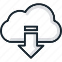 cloud, download, services, storage icon