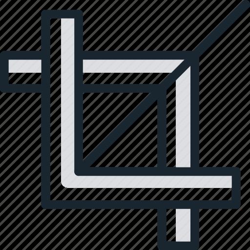 crop, design, measure, modify, tool icon