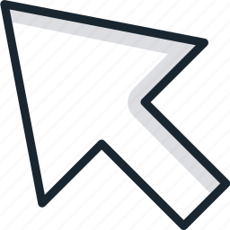arrow, cursor, direction, navigate, top, up icon