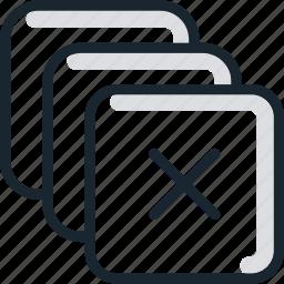 boxes, delete, items, remove icon