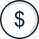 $, coin, currency, dollar, money, peso, sign icon