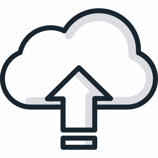 cloud, files, services, storage, upload icon