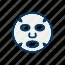 facial, random, sheet mask, skincare, spa icon