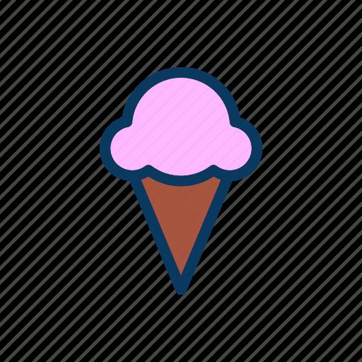 cream, dessert, ice cream, random icon