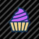 cream, cupcake, dessert, random, sweet icon
