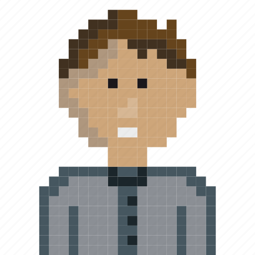avatar, boy, cubic, gaming, pixel-art, pixels, retro icon