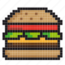 burger, cheeseburger, eating, fast-food, hamburger, junk-food icon