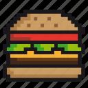 burger, cheeseburger, eating, fast-food, hamburger, junk-food icon