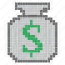 bank, cash, coins, currency, dollars, money, payment icon