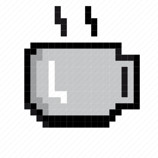beverage, break, coffee, drink, hot-drink, pixels, tea icon