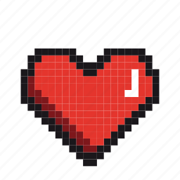 couple, fall-in-love, heart, love, lovers, pixels, valentine icon
