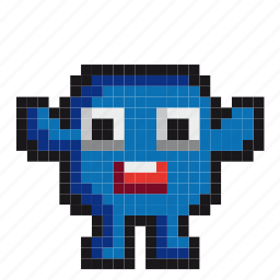 avatar, cartoon, character, game, gaming, monster, pixel-art icon
