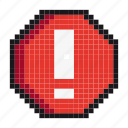 alarm, alert, attention, caution, danger, stop, warning icon