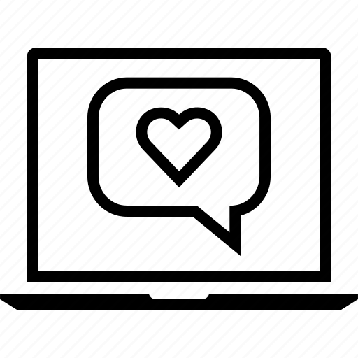 chat, heart, love icon